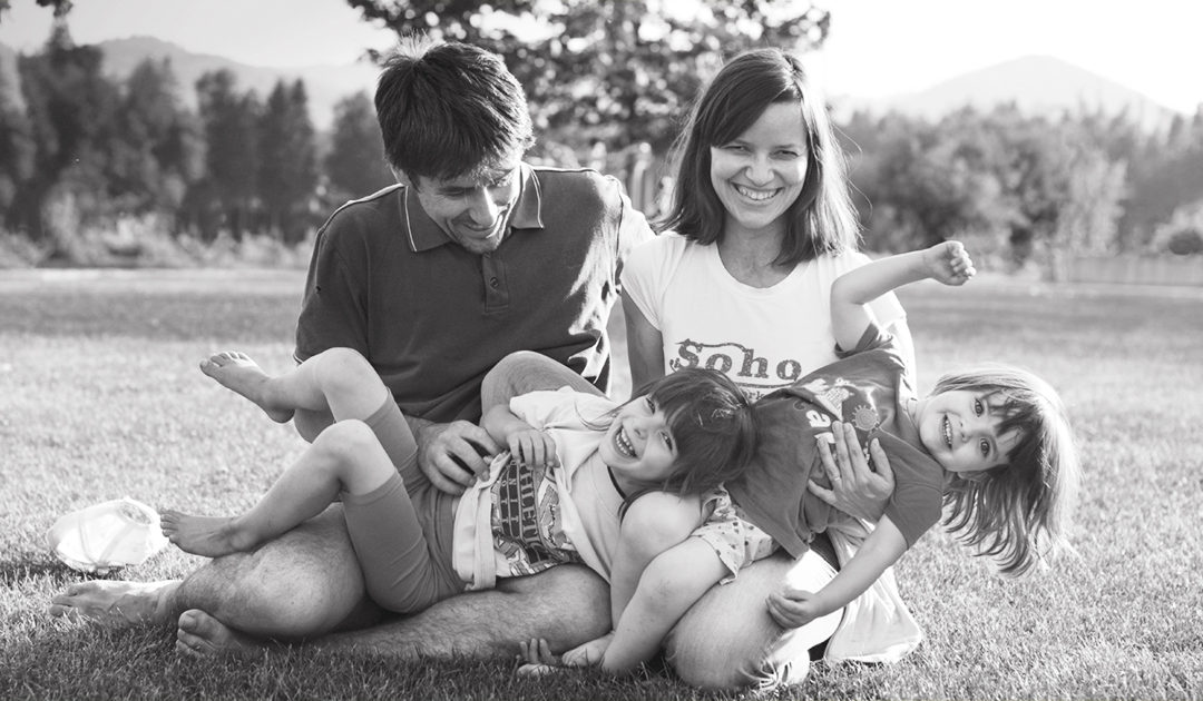 Games, giggles and tumbling in the grass a.k.a. family photo session