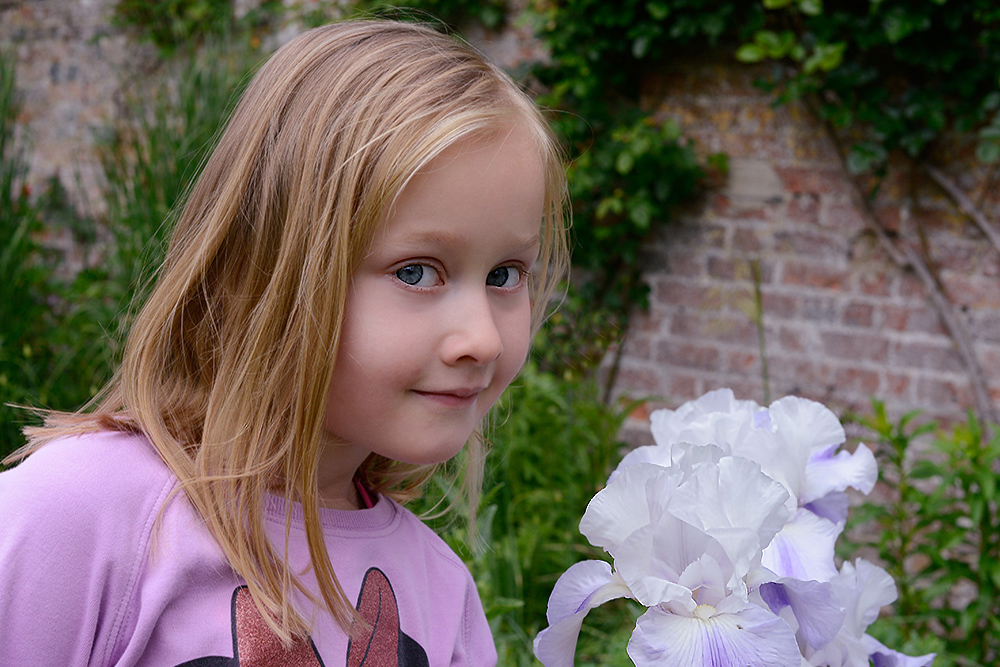 Sara with flowers