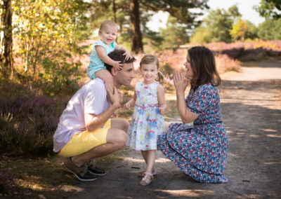 Family portrait outdoors in Surrey