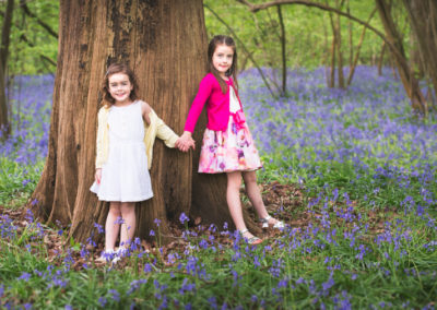 Bluebells photoshoot in Surrey