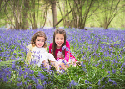 Lily and Poppy in Bluebells