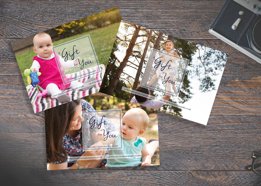 Photo session gift certificate